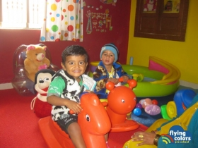 Aryan and Kusum having a ride