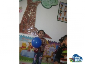 Charmi playing with a ball
