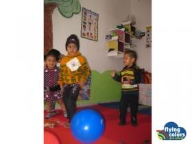Nidhi, Rishika and Ayushi dancing